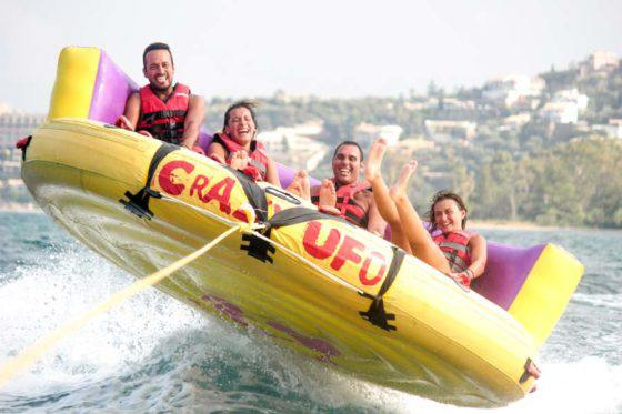dassia-ski-club-watersports-corfu-inflatables-fun-dassia-sea-summer-beach-coast-adrenaline-yacht-towing-waves-sports-friends-family-summer-in-corfu-holidays-vacation-freetime-funtime-activities-crazy-ufo