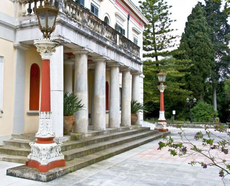 Mon-Repo-Schloss-Museum-Sehenswürdigkeiten-Kardaki-Strand-Wald-Korfu-Insel-Ionisches-Meer-Griechenland
