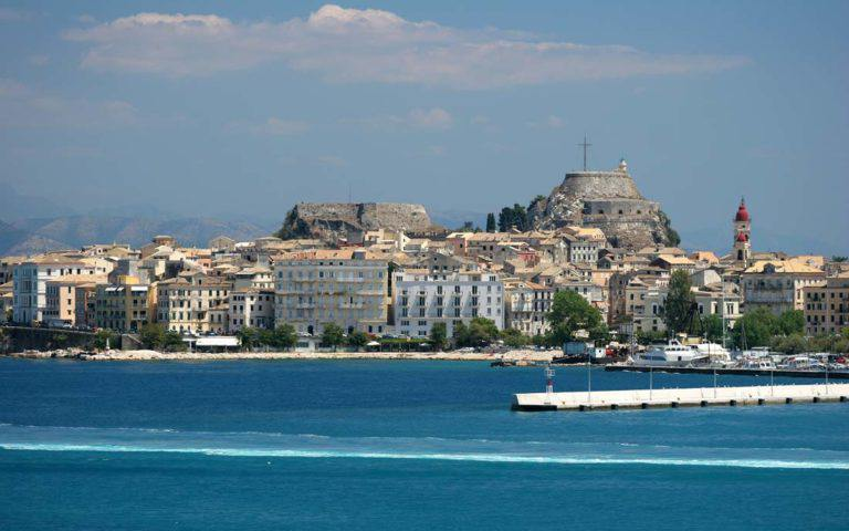 corfu-corfu-town-corfu-city-old-city-monuments-sites-sightseeing-sea-old-fortress-St.-Spiridon-centre-island-dassia-dassia-ski-club-view-blue-sky-boats-yachts-Ionian-Sea-Port-Harbour-History-UNESCO-Tradition-Tourism-Vacation-holildays-summer-sun-Greece-Italy